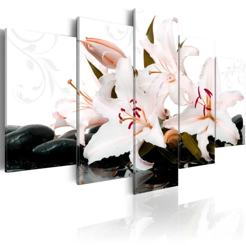 Obraz  Kamienie zen i lilie