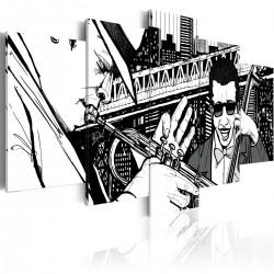 Obraz  Koncert jazzowy na tle nowojorskich wieżowców  5 częsci