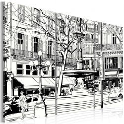 Obraz Szkic paryskiego skweru