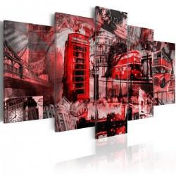 Obraz Londyński kolaż 5 części