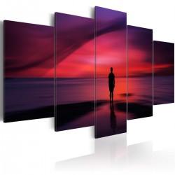 Obraz Mężczyzna podziwiający zachód słońca