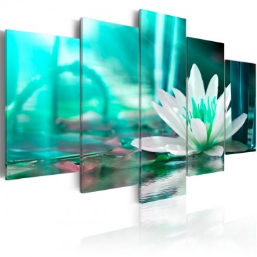 Obraz  Turkusowy lotos