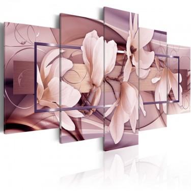 Obraz  Nastrojowe kwiaty