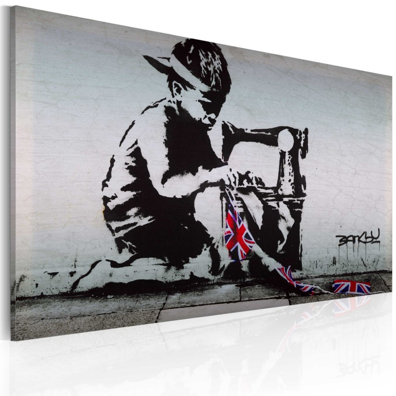 Obraz  Union Jack Kid (Banksy)