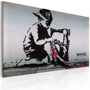 Obraz  Union Jack Kid (Banksy)