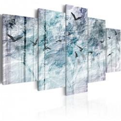 Obraz  Niebieski las