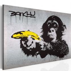 Obraz - Stój, bo małpa strzela! (Banksy)