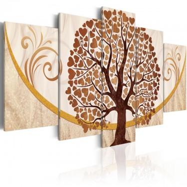 Obraz  Złote drzewo miłości
