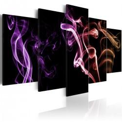 Obraz - Barwny dym - 5 części