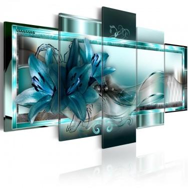 Obraz  Błękitne lilie