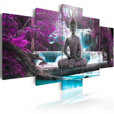 Obraz  Wodospad i Budda