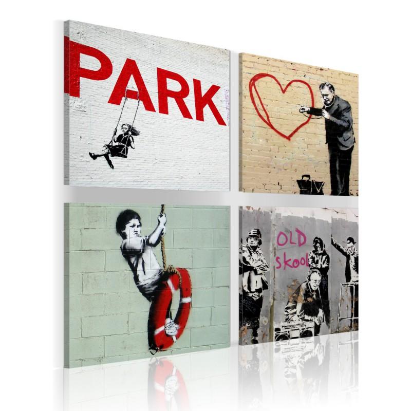 Obraz  Banksy  miejskie inspiracje