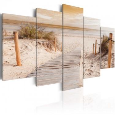 Obraz  Poranek na plaży   sepia