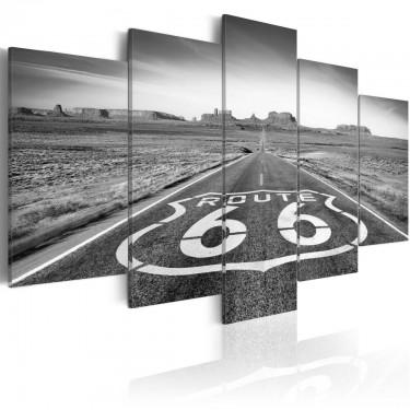 Obraz  Droga 66  czarnobiała