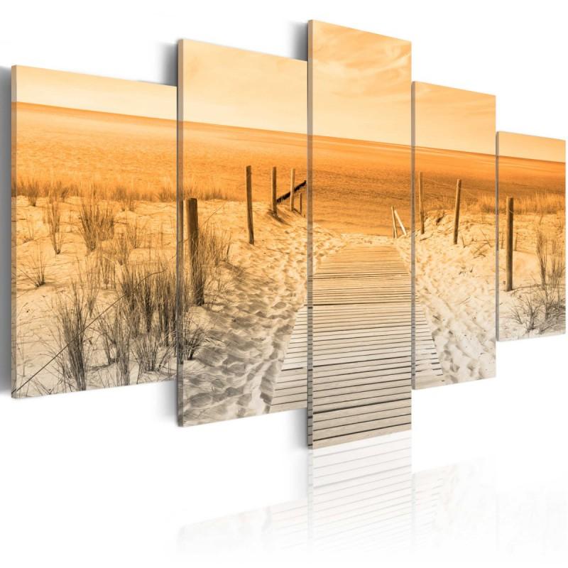Obraz  Pomarańczowa plaża
