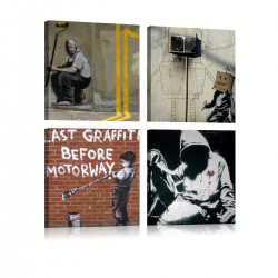 Obraz  Banksy  sztuka ulicy