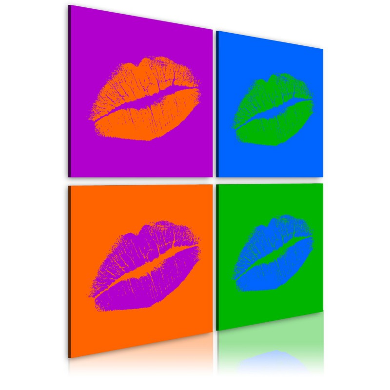 Obraz  Pocałunki Pop art