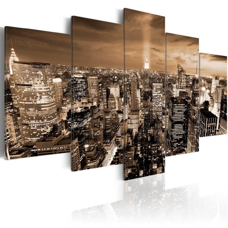 Obraz  Nowy Jork nocne światła