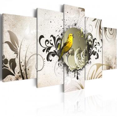 Obraz  Żółty ptak
