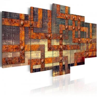 Obraz  Metalowy labirynt
