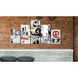 Obraz  Street Crimes Banksy Art