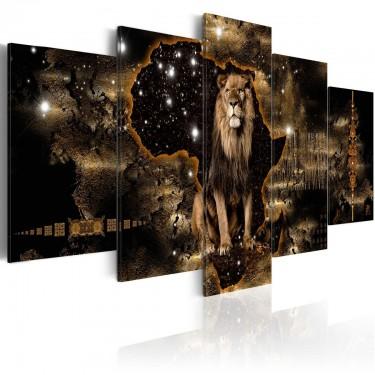 Obraz  Złoty lew