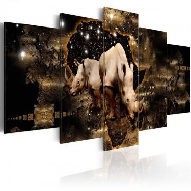 Obraz  Złoty nosorożec