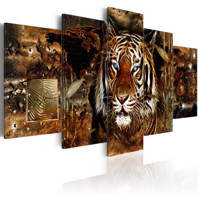 Obraz  Złota dżungla