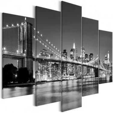Obraz  Sen o Nowym Jorku (5częściowy) szeroki