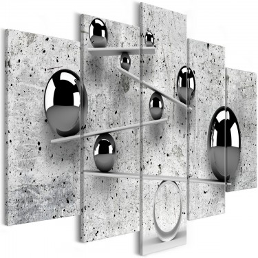 Obraz  Kule i beton (5częściowy) szeroki