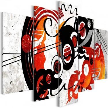 Obraz  Muzyczne kreacje (5częściowy) szeroki