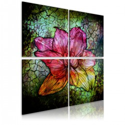 Obraz  Szklany kwiat