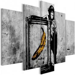 Obraz  Dumna małpa (5częściowy) szeroki