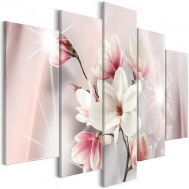 Obraz  Olśniewające magnolie (5częściowy) szeroki