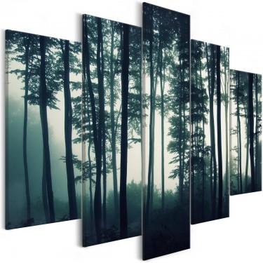 Obraz  Mroczny las (5częściowy) szeroki