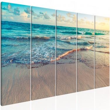 Obraz  Plaża w Punta Cana (5częściowy) wąski
