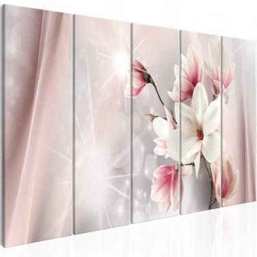 Obraz  Olśniewające magnolie (5częściowy) wąski