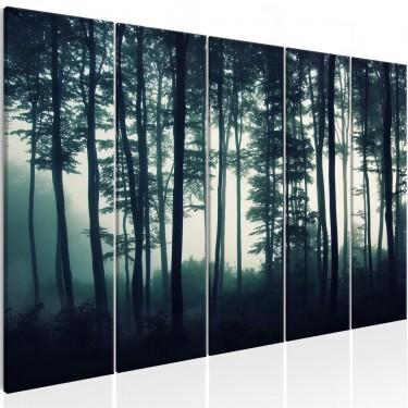 Obraz  Mroczny las (5częściowy) wąski
