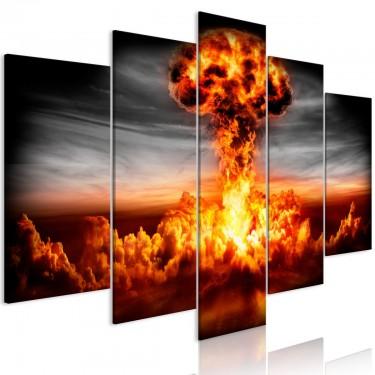 Obraz  Eksplozja (5częściowy) szeroki