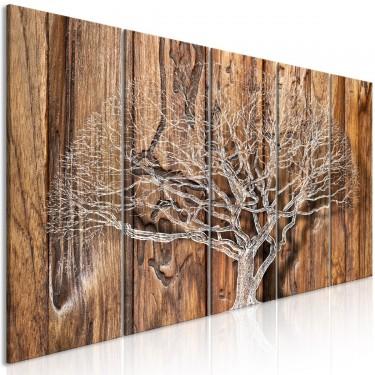 Obraz  Kronika drzewa (5częściowy) wąski