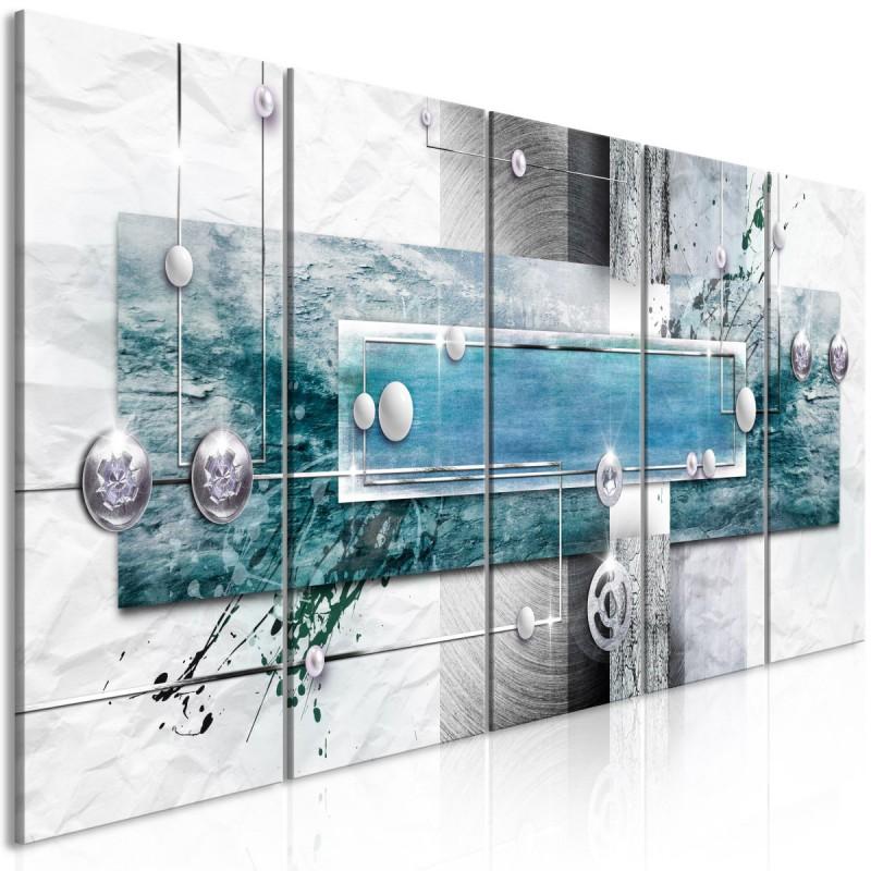 Obraz  Tajemniczy mechanizm (5częściowy) wąski niebieski