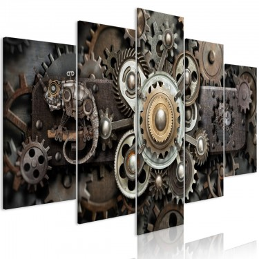 Obraz  Stary mechanizm (5częściowy) szeroki