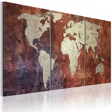 Obraz  Stalowe kontynenty