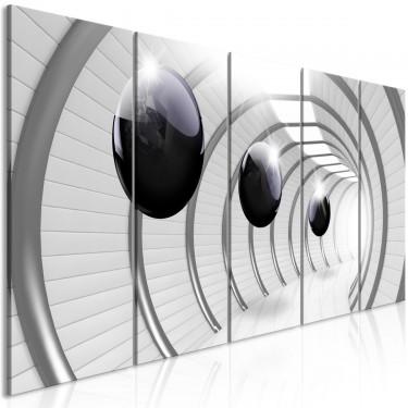 Obraz  Kosmiczny tunel (5częściowy) wąski