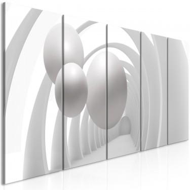 Obraz  Biały tunel (5częściowy) wąski