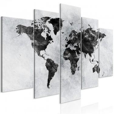 Obraz  Betonowy świat (5częściowy) szeroki