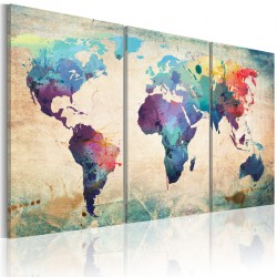 Obraz Świat malowany akwarelami