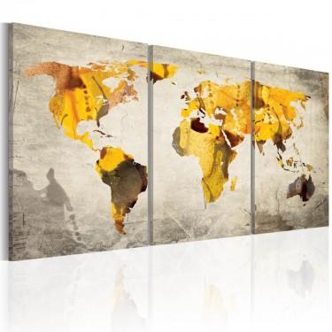 Obraz  Żółte kontynenty