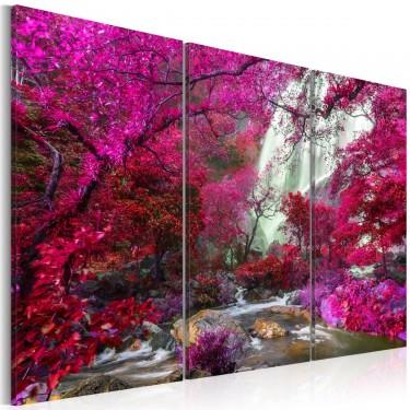 Obraz  Piękny Wodospad Różowy las