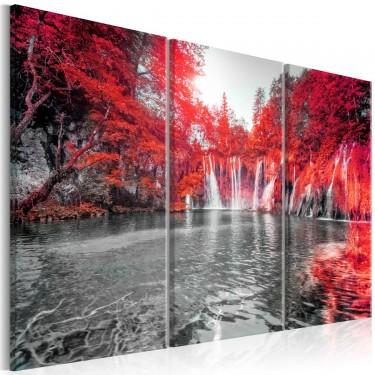 Obraz  Wodospady rubinowego lasu